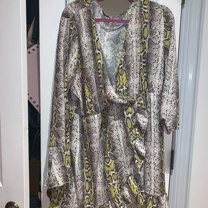 Boohoo snakeskin dress